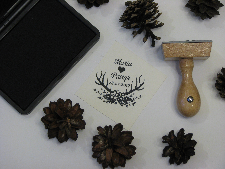 Pieczątka ślubna motyw leśny