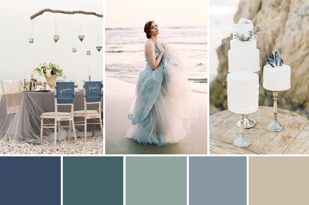 Kolory śluby z morskim motywem przewodnim