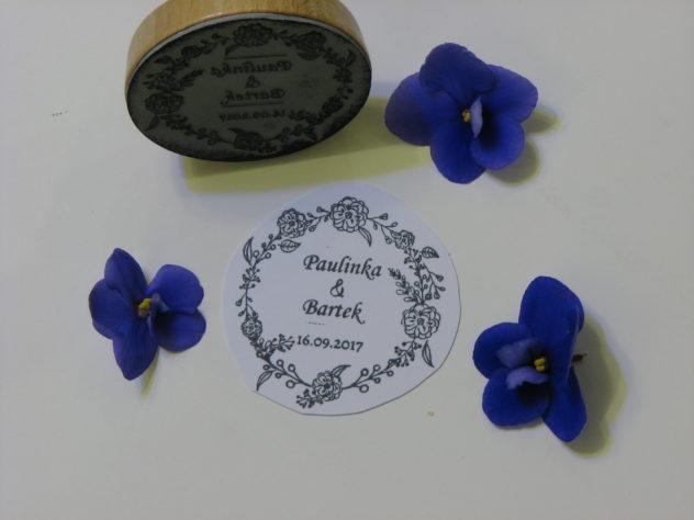 Pieczątka ślubna motyw kwiatowy